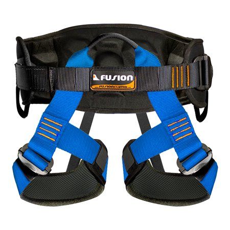 Fusion Climb Centaur Heavy Duty Military Tactical Padded Half Body Side Gear Loop Adjustable Harness 23kN M-L Blue ()