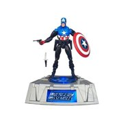 Marvel Universe Exclusive Comic Series Figure With Light Up Base Captain America, By Marvel Comics