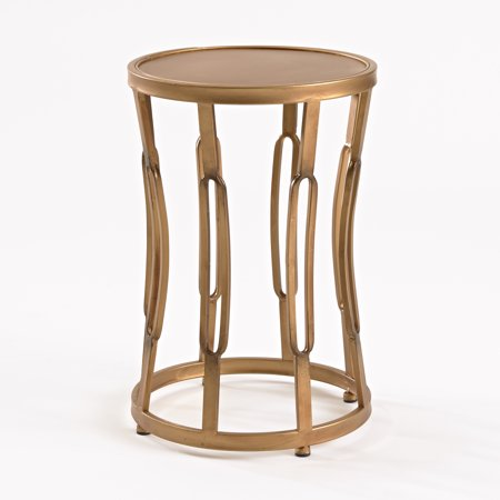 Small Hourgl Side Table Br Finish