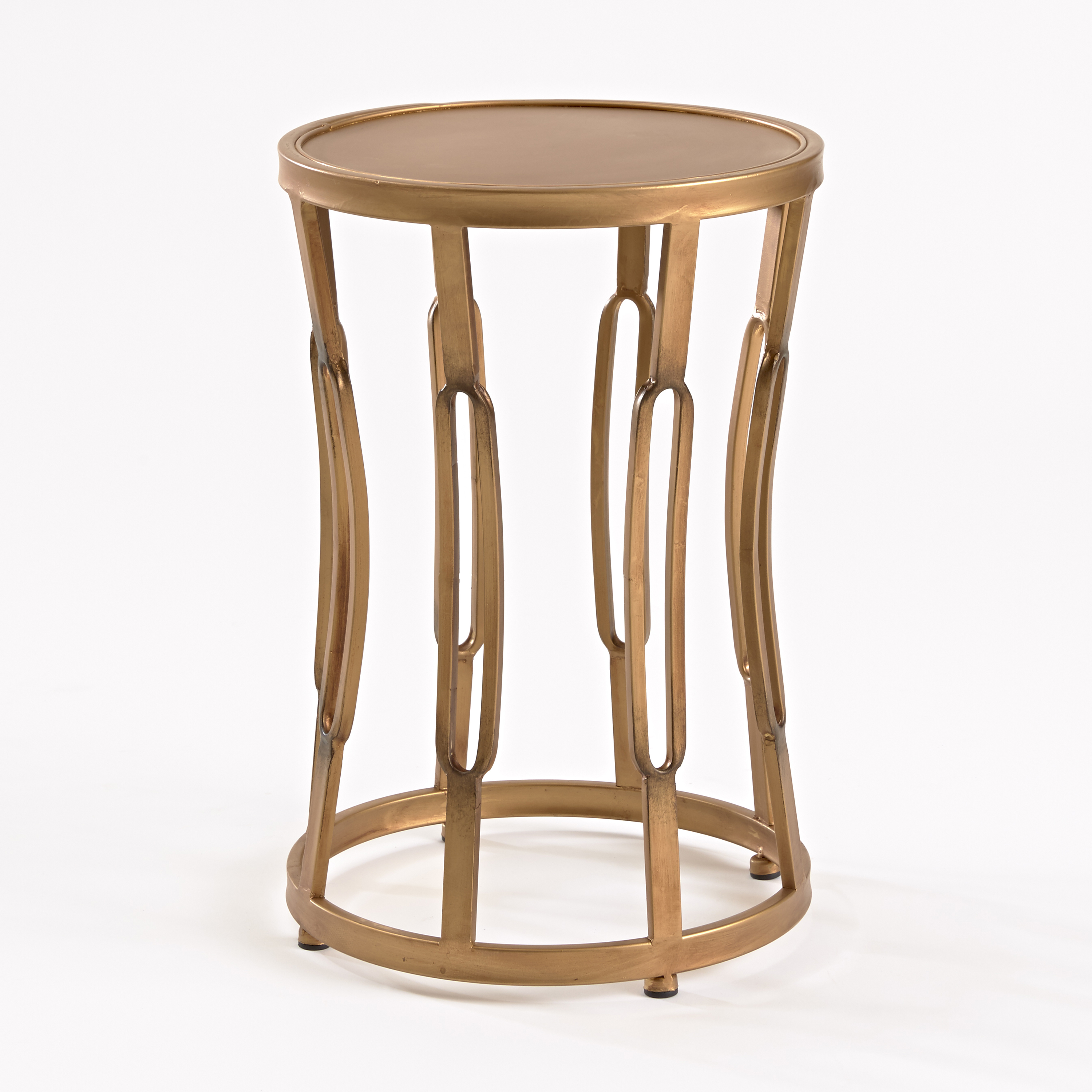 Small Hourglass Side Table, Brass Finish