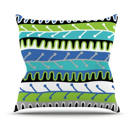 Kess InHouse Jacqueline Milton Salsa Indoor/Outdoor Throw Pillow ()