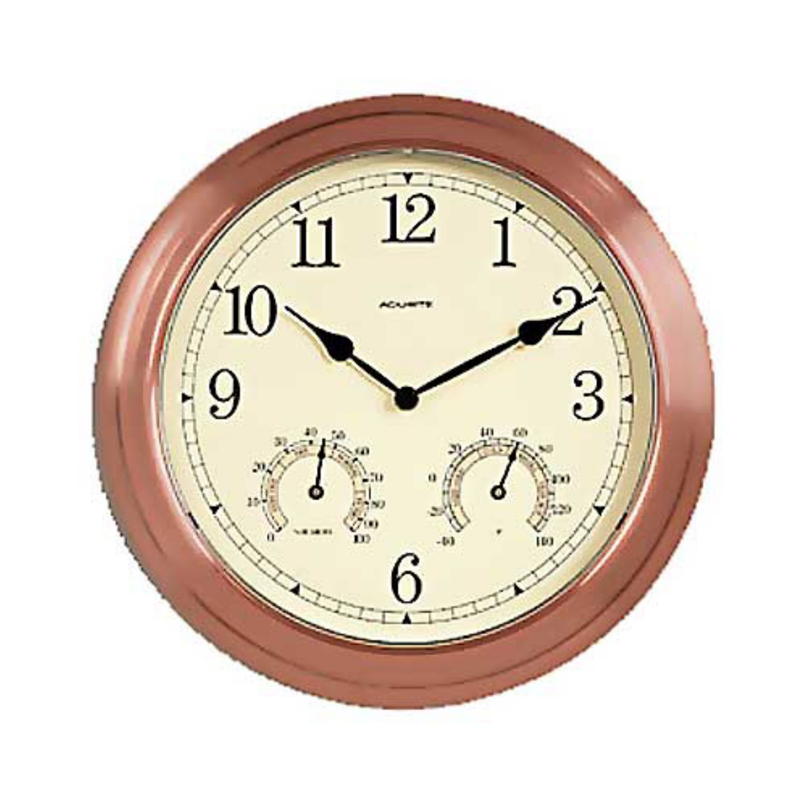 Chaney Copper 13.5 in. Outdoor Wall Clock