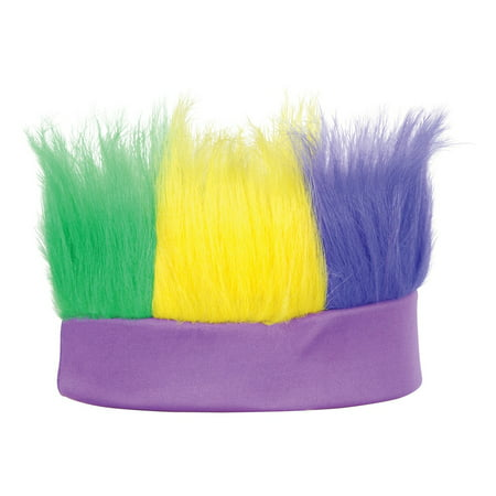 Club Pack of 12 Green Yellow and Purple Decorative Mardi Gras Party Hairy Headband Costume Accessory