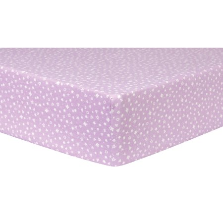 Stars, Hearts and Butterflies Deluxe Flannel Fitted Crib Sheet