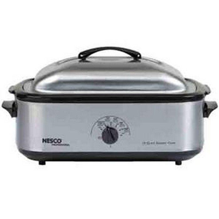 Nesco 4818-25PR Electric Oven Steel Rack Baking Steaming ...