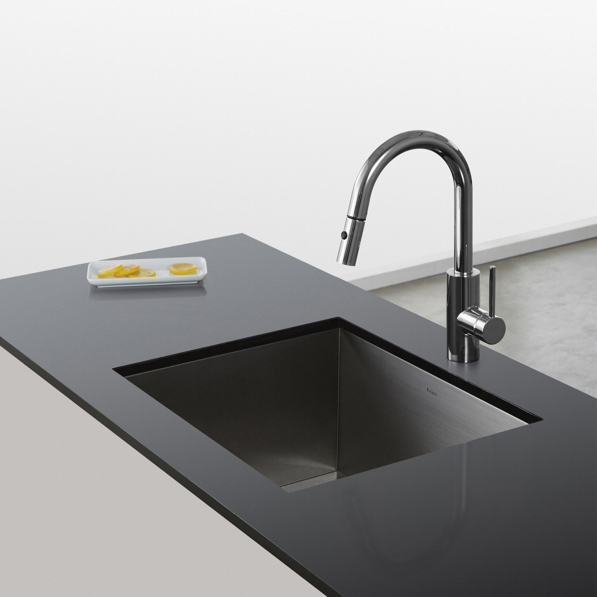 KRAUS Oletto™ Single Handle Pull Down Kitchen Faucet with QuickDock ...