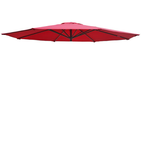 Sunrise 13ft 8 Ribs Outdoor, Patio Umbrella Cover Canopy, Replacement Cover Top, Burgundy (Cover Only, Umbrella Frame not