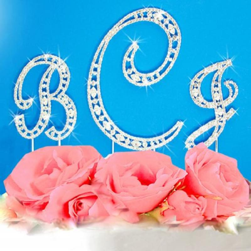 Swarovski Crystal Vintage Elegance Initial Letter Monogra...