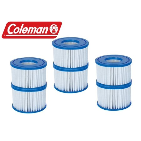 New Coleman Lay-Z Spa Replacement Filter Cartridges - Pack of 6 - Item # 90352, Replacement Cartridge for Lay-Z Spa and Saluspa By (Best Way To Hang Heavy Items On Drywall)