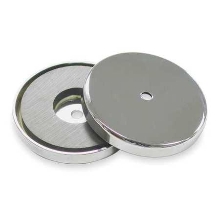 6XY91 95 lb. Pull Encased Round Base Magnet ()