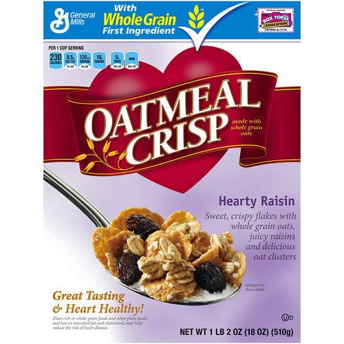 Oatmeal Crisp? Hearty Raisin Cereal 18 oz. Box