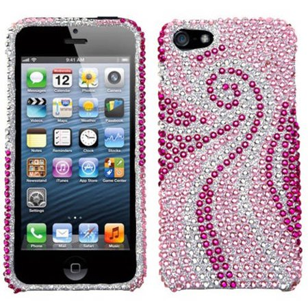 Apple iPhone 5/5S MyBat Protector Case, Phoenix Tail Diamante - Frosty Tiger