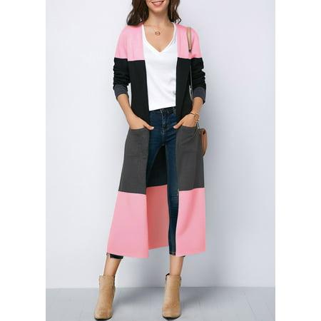 Fashion Women Warm Long Sleeve Faux Fur Lapel Thick Top Parka Casual Fleece Zipper Open Front Winter Cardigan Outwear Coat