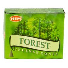 Forest Cone - HEM Incense Forest 10pk Cones Go Deep Into the Breathing Power of Earth Trees to Create Special Atmosphere in Home Create Relaxing Atmosphere Into Your Home Prayer Meditation Aromatherapy