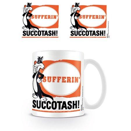 Takes Mug - Looney Tunes - Ceramic Coffee Mug / Cup (Sylvester The Cat - Sufferin' Succotash!)