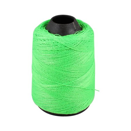 Unique Bargains Unique Bargains Tapered Plastic Spool Green String Hand Machine Embroidery Sewing