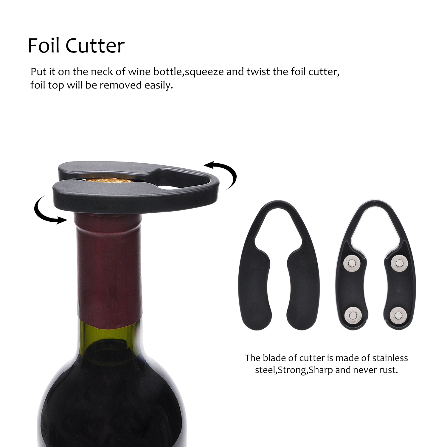 Restaurant Food-grade Air Pump Wine Bottle Opener Quick Opening Bottle Without Damaging The Cork Wine Opener Widely Used For Family Small And Portable Wine Opener Easy To Use Party