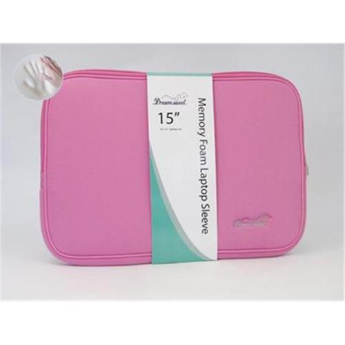 Feature Stage FS-06DS Memory Foam Laptop Computer Sleeve Case 15 inch Pink