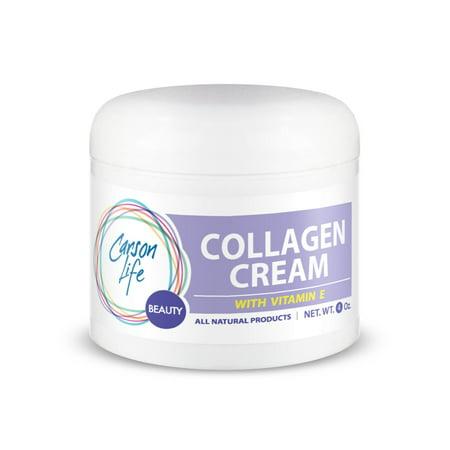 CARSON LIFE collagène élastine avec de la vitamine E Crème pour le visage, 4 Oz