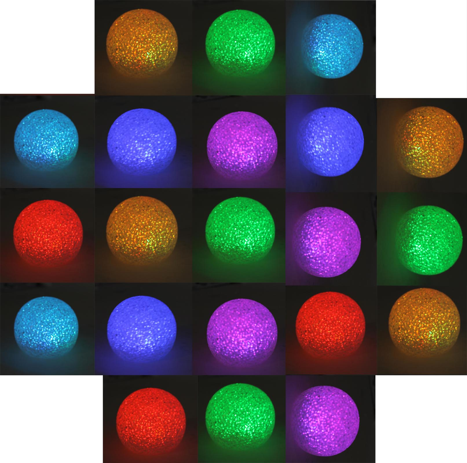 21 Pack of Good Times Color Changing LED Waterproof Floating Pool Globe Lights