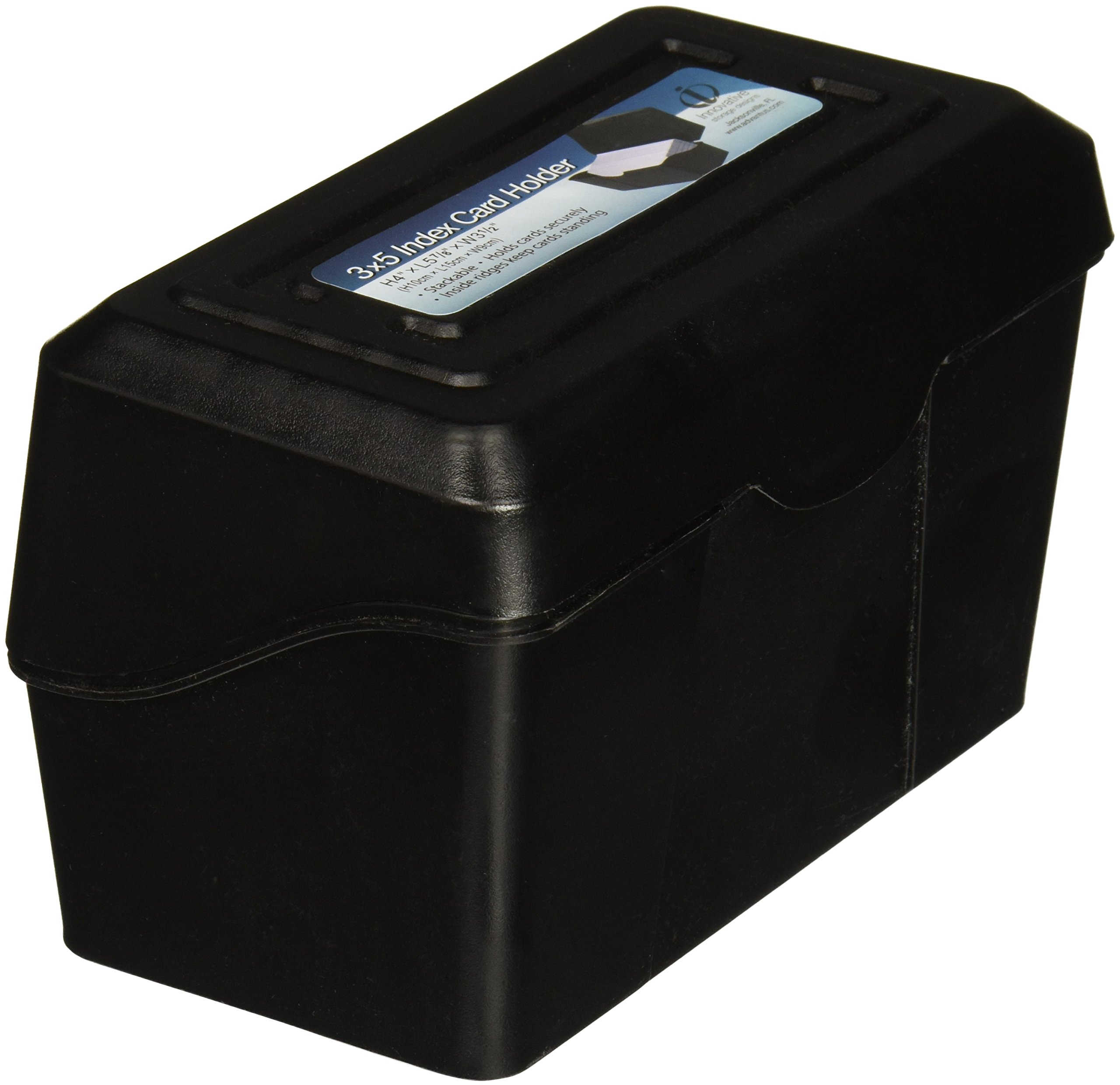 "Advantus Index Card Holders, 3""x5"", Black (avt-45001)"