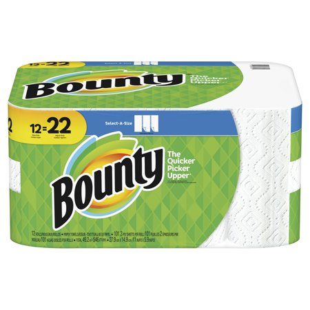 Household Paper Towel - Bounty Select-A-Size Paper Towels, White, 12 Super Rolls = 22 Regular Rolls
