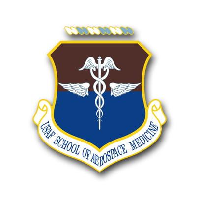 3.8 Inch Air Force School Of Aerospace Medicine Vinyl Transfer Decal ()
