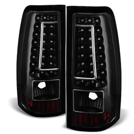 - Fit 2003-2006 Chevy Silverado GMC Sierra 1500 2500 3500 LED Black Tail Lights