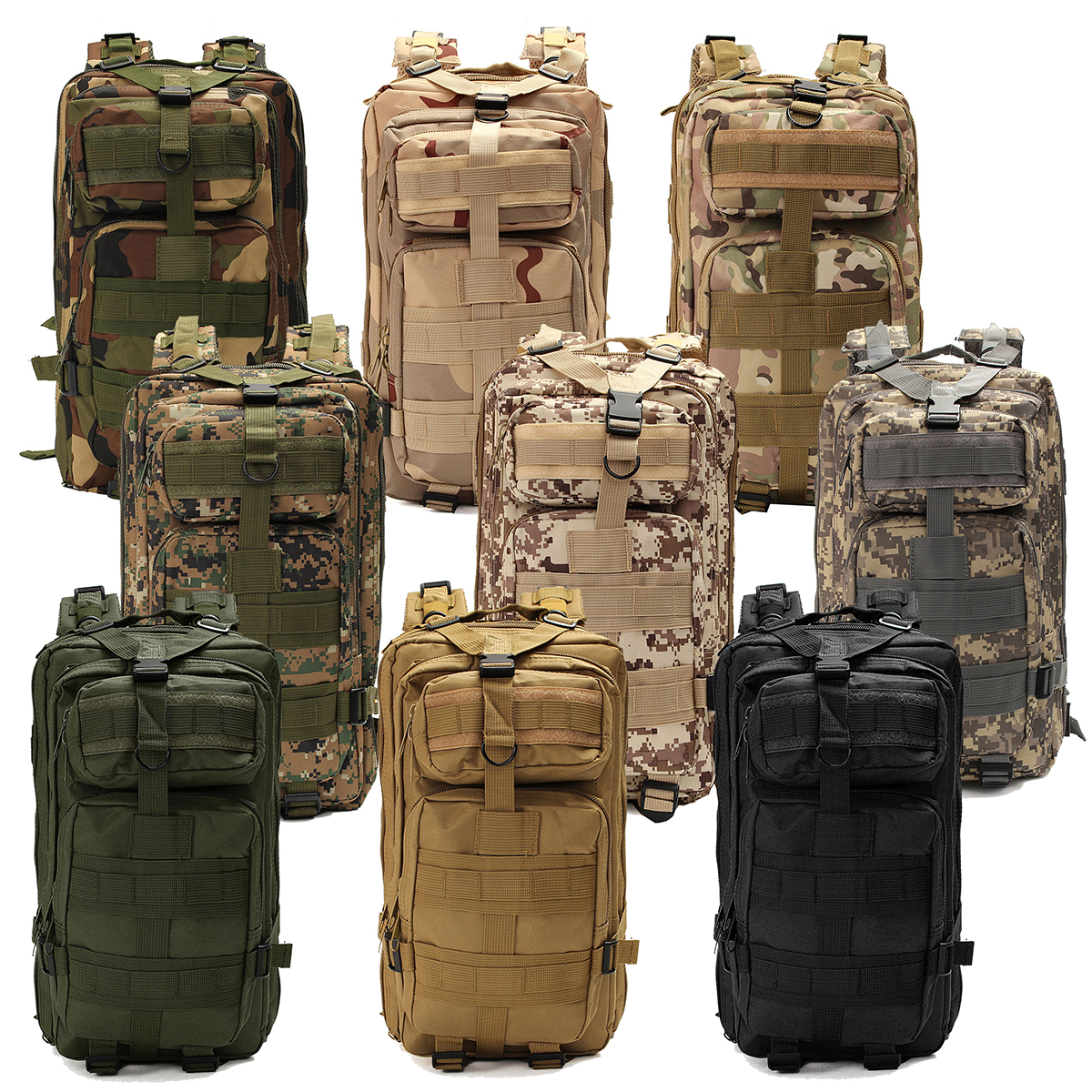 30L Military Tactical Army Backpack Rucksack Camping Hiking Trekking Outdoor Bag