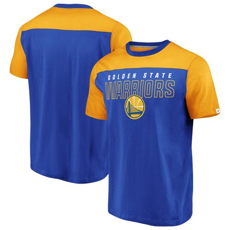 Golden State Warriors Fanatics Branded Iconic Color Block T-Shirt - Royal/Gold