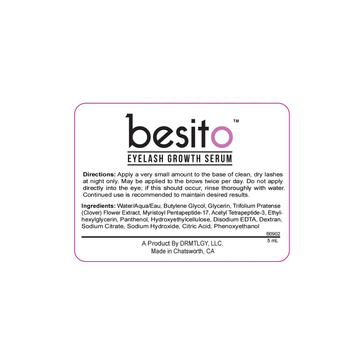 491e5f41511 besito Eyelash Growth Serum - 100% Natural Lash Growth Serum for Full Lash  and Brow Growth. Made in the USA - Walmart.com