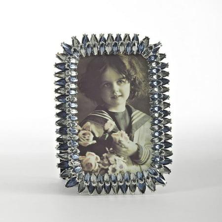 Saro Jeweled Sapphire Picture Frame Jeweled Fanci Frames