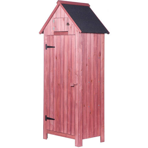 Merax Arrow Shed Wooden Garden Shed Wooden Lockers With