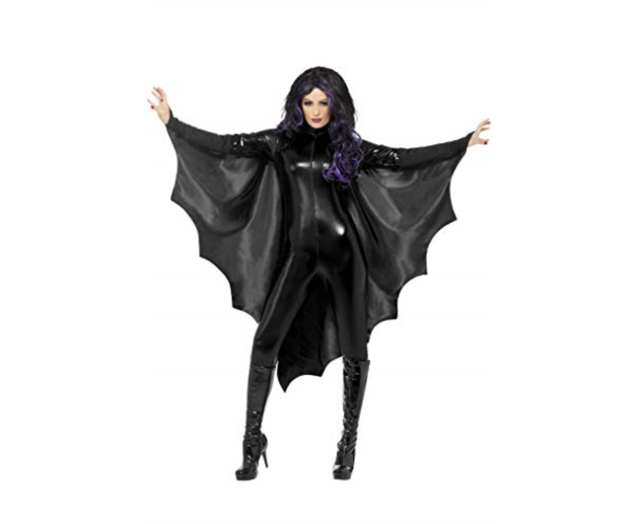 Black Vampire Bat Wings Vampiress Unisex Adult HAlloween Costume Accessory