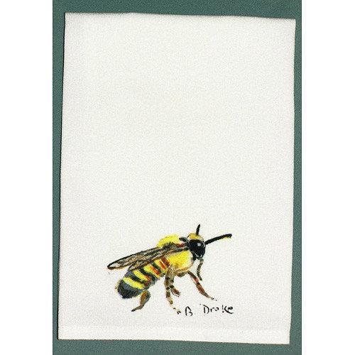 Betsy Drake Interiors Garden Bee Hand Towel (Set of 2)