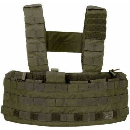 5.11 Tactical 56061 Tactec Chest Rig, Molle Exterior Webbing, Padded Shoulder Straps, 1 Size