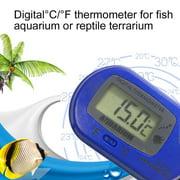 LCD Digital Fish Aquarium Thermometer Water Terrarium FREE Extra Batteries,Blue