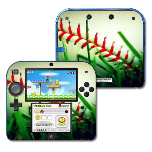 Mightyskins Protective Vinyl Skin Decal Cover for Nintendo 2DS wrap sticker skins Softball