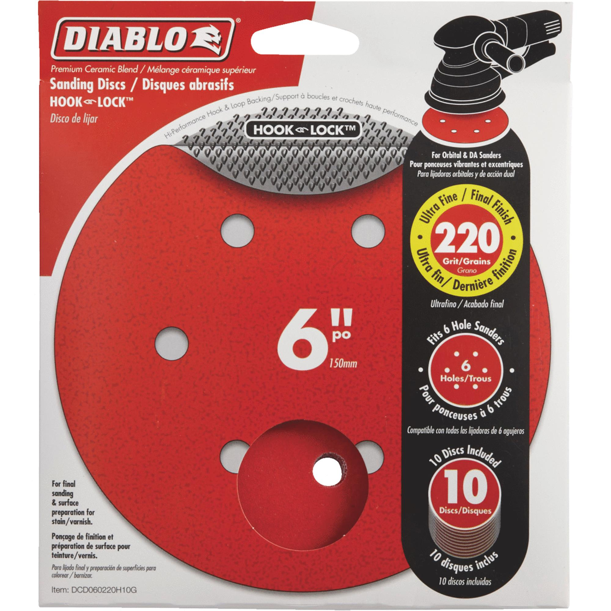Diablo 6 In. Hook & Lock Vented Sanding Disc