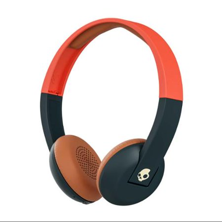 Skullcandy Bluetooth Wireless On-Ear Headphones with Mic & Remote, Orange/Navy ()
