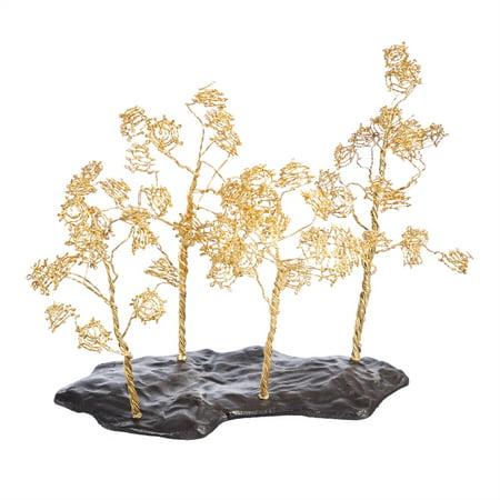 Golden Tree Table Deco
