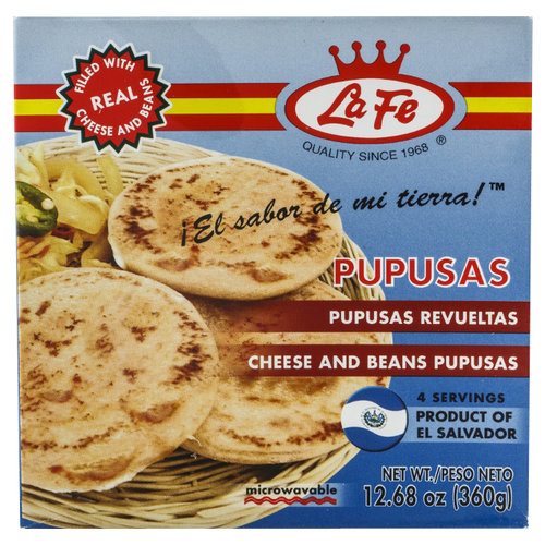 La Fe Cheese and Beans Pupusas, 12.68 oz
