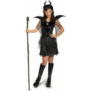 maleficent deluxe black gown and headpiece girls teen halloween costume - Girls Teen Halloween Costumes