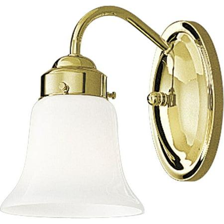 - Opal Glass One-Light Bath Bracket