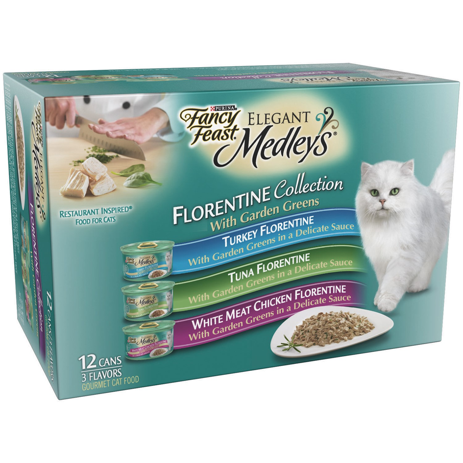 Fancy Feast Elegant Medleys Florentine Collection Variety Pack Wet Cat Food, 3 Oz by Nestle Purina Petcare