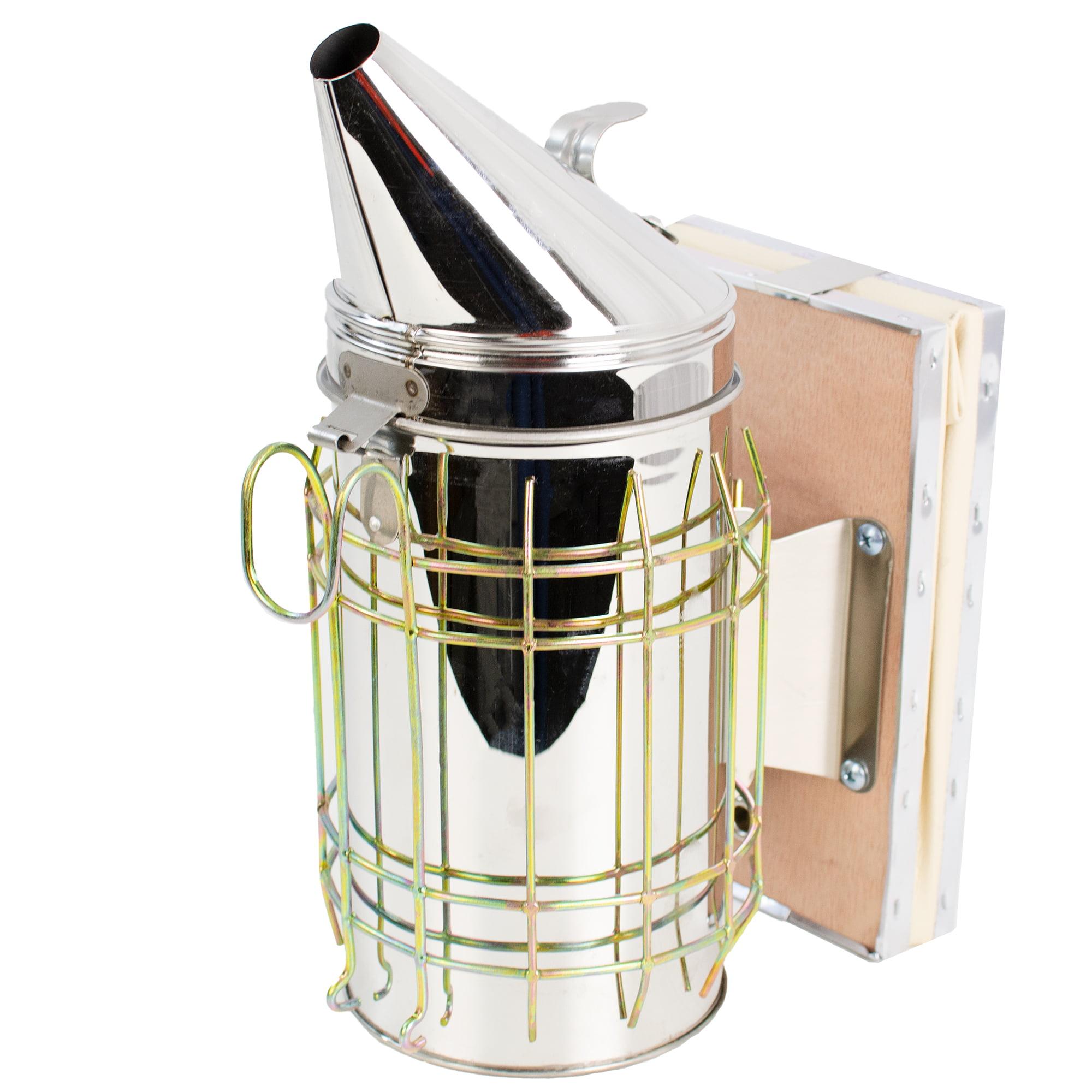 VIVO Large Bee Hive Smoker Stainless Steel w/Heat Shield Beekeeping Equipment (BEE-V001L)