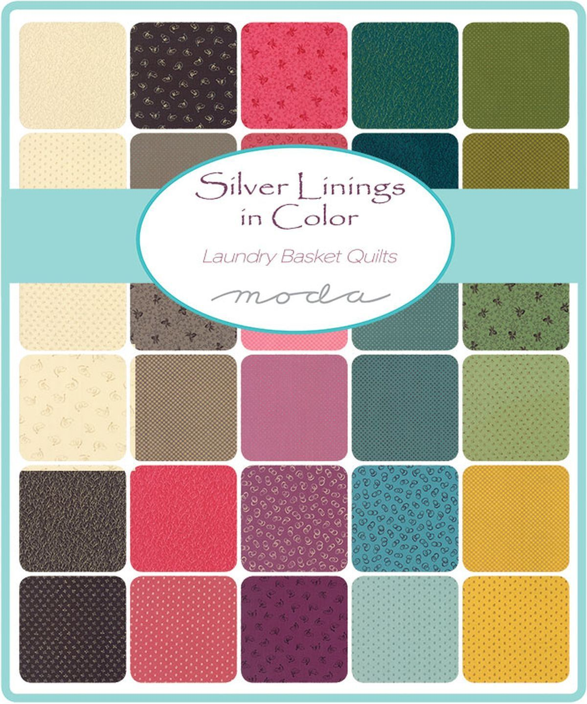 """Moda Charm Pack~Silver Linings~Laundry Basket Quilts~ 5/""""x 5/"""" Squares~100/% Cotton"""