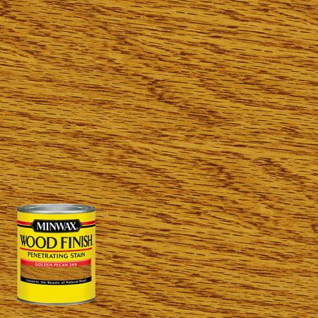 Minwax Wood Finish Penetrating Stain, Golden Pecan, Half-Pint Antique Gold Finish Wood