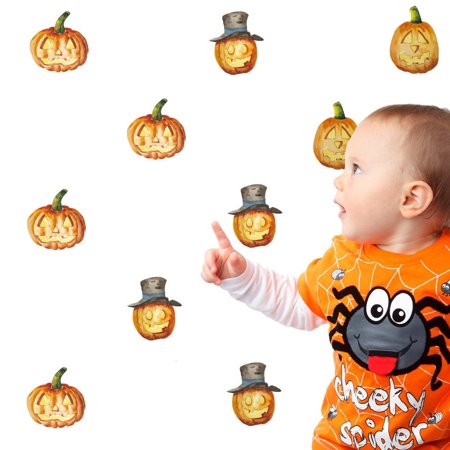 Halloween Pumpkin Removable Wall Stickers Quote Art fashion DIY Decal Mural Decor (Tgif Halloween Quotes)
