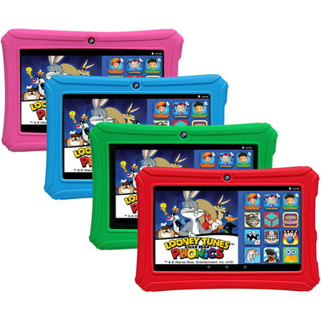 "HighQ Learning Tab 7"" Kids Tablet 16GB Intel Atom Processor Preloaded with Learning Apps & Games Pink"